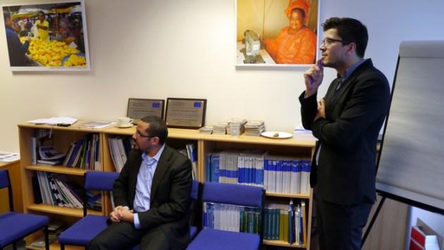 Roberto Cancel dhe Besnik Shala nga DEED e IOM-it, Londer, 4 mars 2013