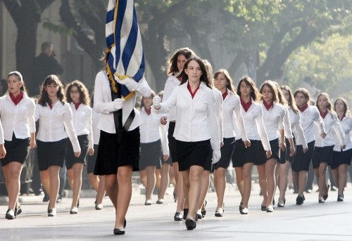 School parade, Greece