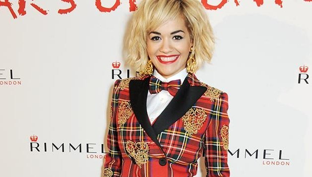 Rita Ora went in head-to-toe tartan at the Rimmel birthday party [Getty]