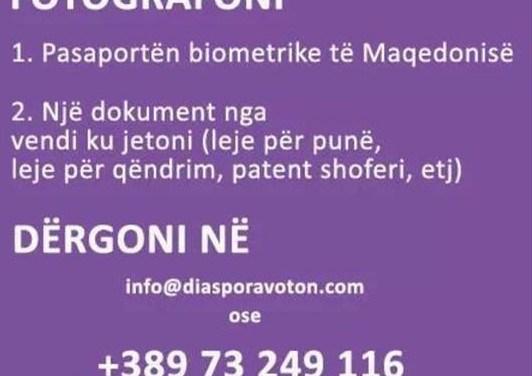 <!--:sq-->Apel diasporës shqiptare nga Maqedonia që të regjistrohen onlajn<!--:-->