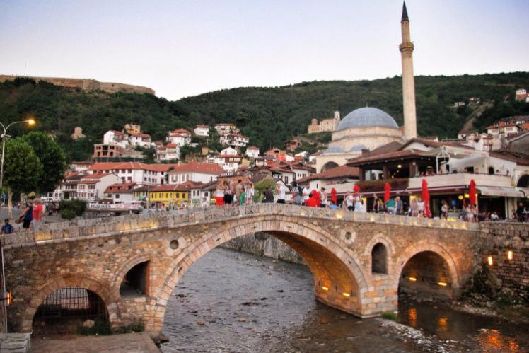 The Ottoman-era architecture of Prizren's old town. Image by Larissa Olenicoff / Lonely Planet