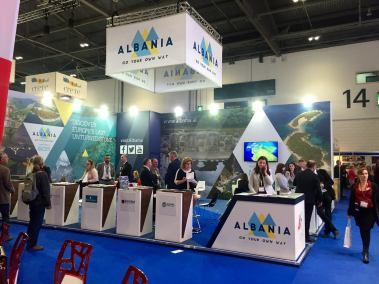 Albania's stand at World Travel Market