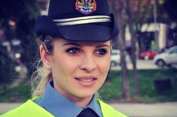 Gorgeous Albanian policewoman goes viral thanks to stunning looks