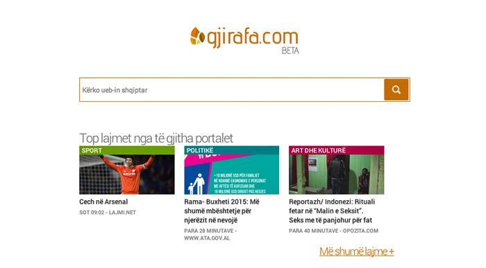 Gjirafa search engine