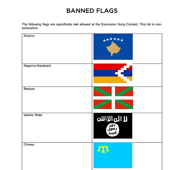 Eurovision puts Kosovo on same list as IS, waving a flag of country will be punished equal as waving the terrorist flag