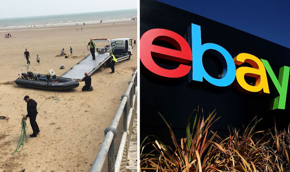 The boat found off the British coast was allegedly boat for £3,000