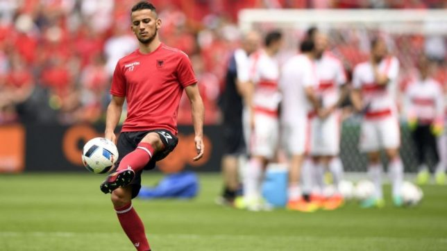 Naser Aliji was born in Macedonia but plays for Albania.