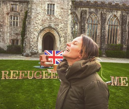 Alketa camped her moving art installation on the grounds of Dartington Hall