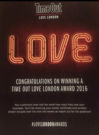 Time Out Love London 2016 Awards