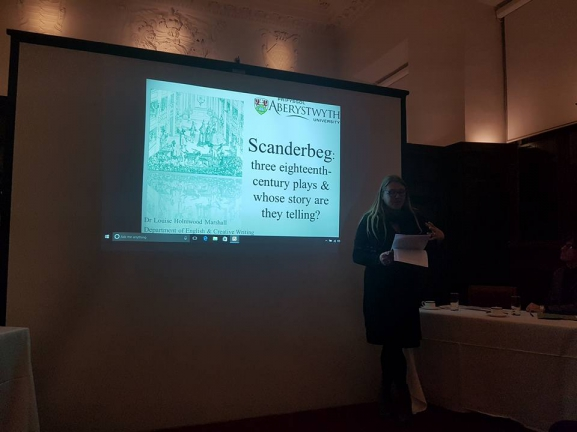 A glimpse from the Symposium about Scanderbeg in Cambridge