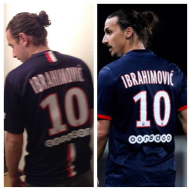Ahmet Murina, Zlatan Ibrahimovic's lookalike (on the left)