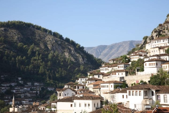 Berat, a beautiful Albanian town in southern Albania