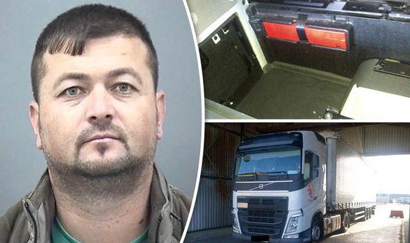 Vasile-Viorel Grosu dhe kamioni i tij