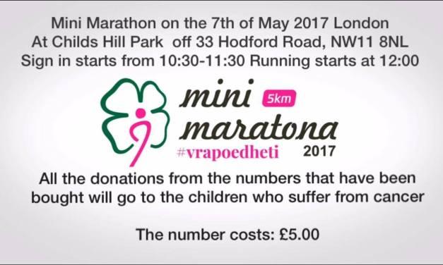 Minimaratonë edhe në Londër për ndihmë fëmijëve me kancer, eja bashkohu, vrapo edhe ti!