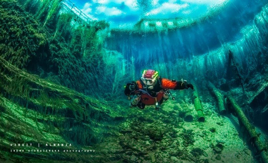 Polish divers capture magical underwater world of Albanian caves