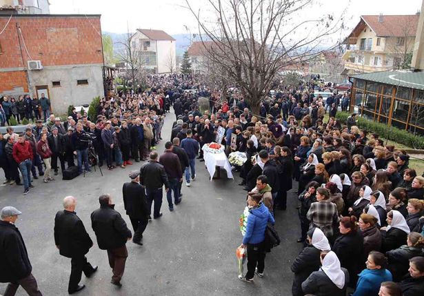 The funeral of Vilson Meshi, which took place in Albania