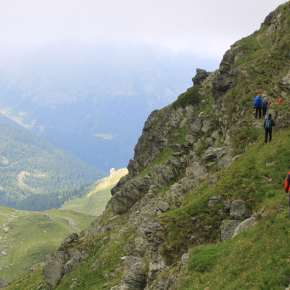Trekking in the Albanian Accursed Mountains. Photograph: Ben Lerwill