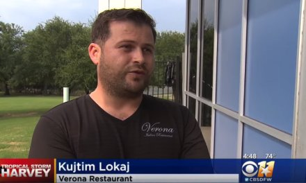 Kosovo Refugee served for free 300 delicious meals to Harvey evacuees (Video)