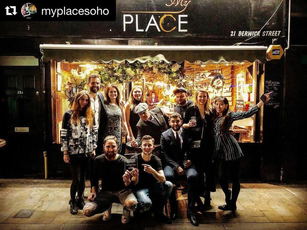 My Place Soho staff and honoured guests with their London Lifestyle Award 2017, 14 November 2017