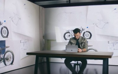 British-Albanian motorcycle designers appear on a Microsoft Surface Pro ad (Video)