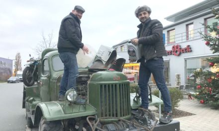 Albanian Car Wash owner on a long road to Albania in Russian military truck