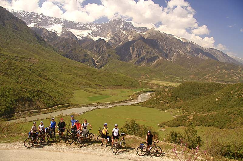 Pedal through the Albanian Alps