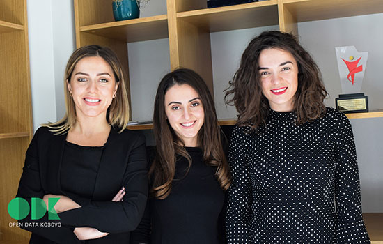 The directors of Open Data Kosovo, Dafina Olluri '13 (applied arts and science), Blerta Thachi and Blinera Meta '13 (applied arts and science), were named to the 2018 Forbes '30 Under 30' list in the field of European law and policy.
