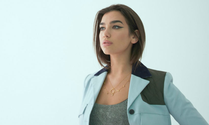 Dua Lipa photographed this month by Phil Fisk for the Observer New Review. Styling by Lorenzo Posocco, hair by Anna Cofone, makeup by Francesca Brazzo