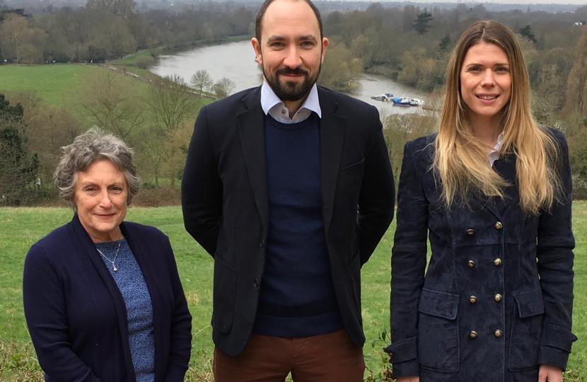 Ham, Petersham and Richmond Riverside Conservative Team is (from left to right) Cllr Jean Loveland, RadomirTylecote and Sara Gezdari