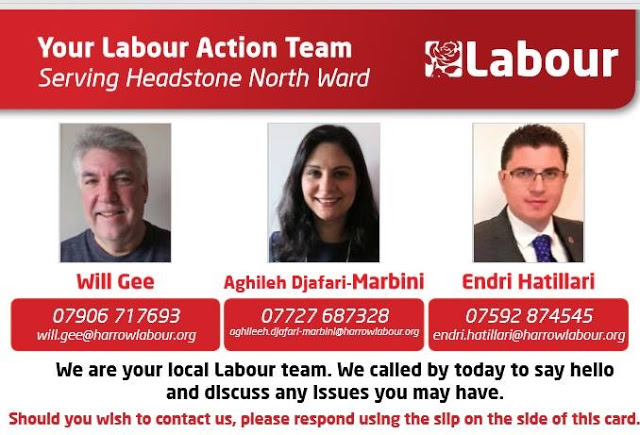 Endri Hatillari, Harrow, Headstone North ward, Labour Party
