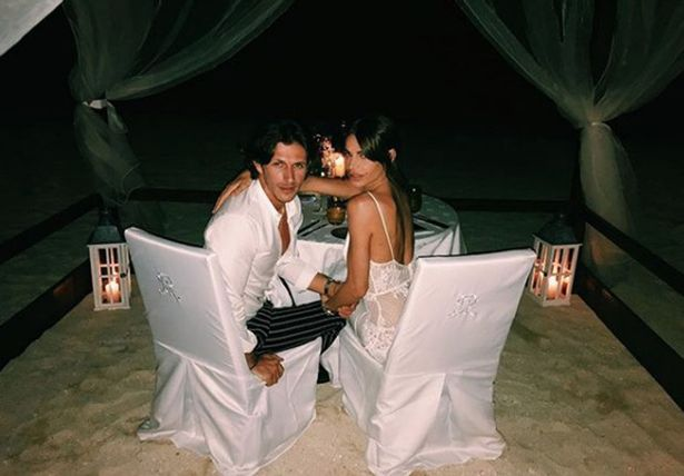 "Jake revealed exactly how he'd popped the question - by spelling a message of 'Marry Me' out on the sand. ""I got the yes,"" he said."