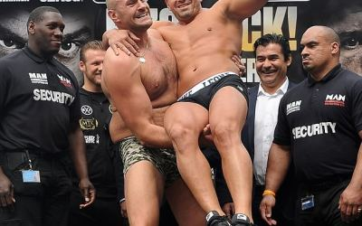 A farce or a fight? Tyson Fury wins after Sefer Seferi quits on his stool