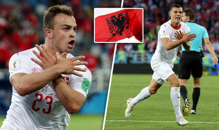 Xhaka and Shaqiri were not afraid to stand up to the bully ...