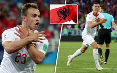Xhaka and Shaqiri were not afraid to stand up to the bully of the Balkans on a global stage