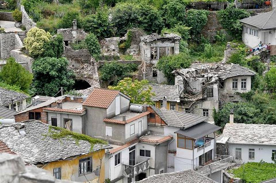 Ruins of the Lolomani house in the UNESCO protected city of Gjirokastra in Albania. | Photo Credit: AFP