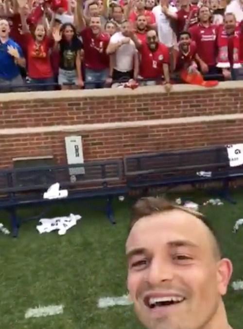 Xherdan Shaqiri's stunning Liverpool debut
