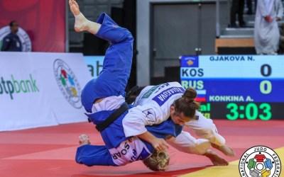 Nora Gjakova wins gold u57kg over Anastasiia Konkina