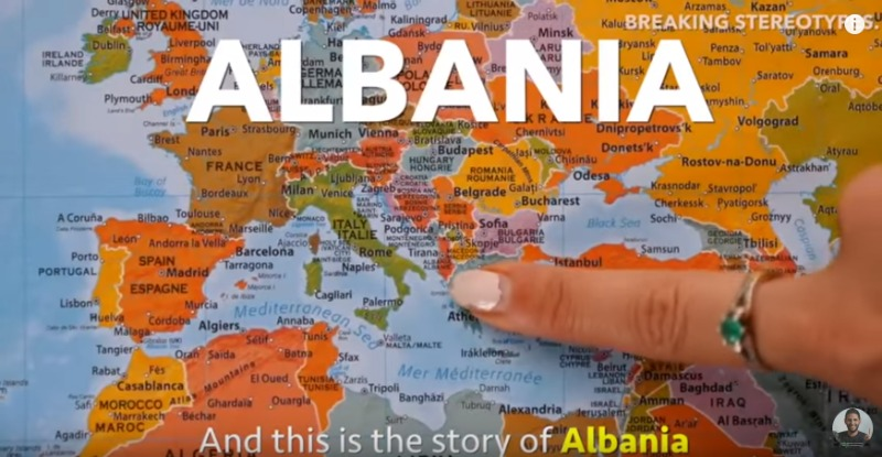 Albania's stereotypes debunked on a great YouTube video by Nas Daily