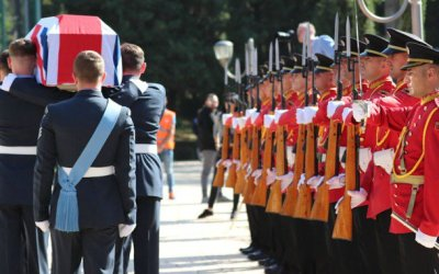 Brave WW2 British RAF crew, buried in dignified ceremony in Albania