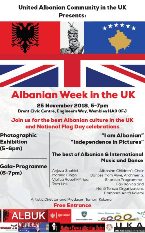 Albanian Week in the UK poster