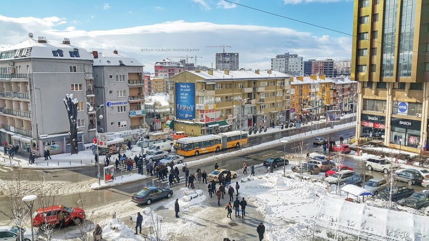 Prishtina in winter