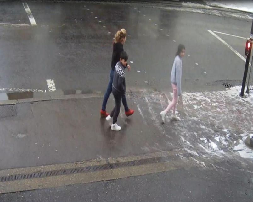Police are working to trace a female member of the public who helped a woman and two young children in St Albans on Friday