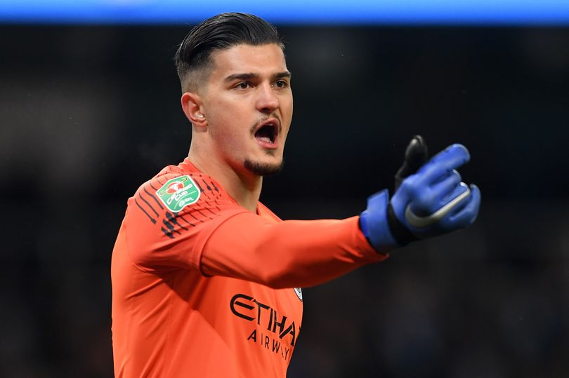 Arijanet Muric of Manchester City gives his team instructions during the Carabao Cup. (Image: Michael Regan/Getty Images)