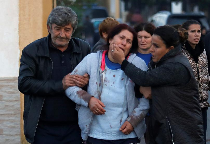 A woman in Durres after the earthquake. Credit: Reuters
