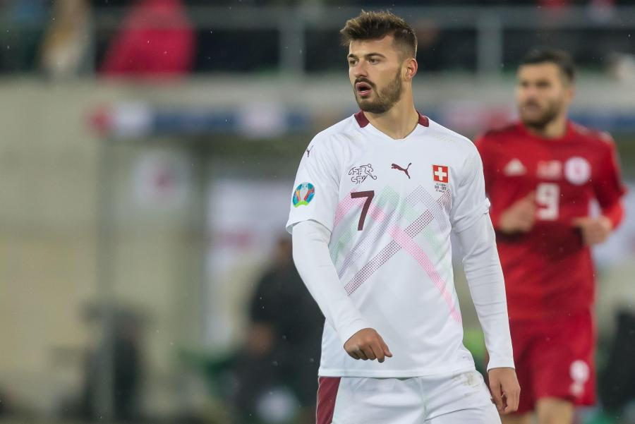 Albian Ajeti in action for Switzerland last year. Photo by TF-Images/Getty Images.