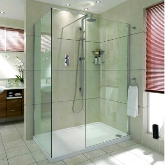 Matki Boutique Walk In Corner Shower Enclosure With Tray Nwsc