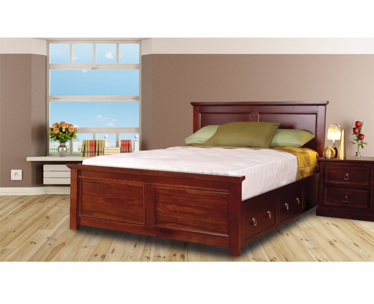 Sweet Dreams Wagner 4ft6 Double Bed Frame With Under Bed