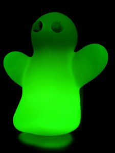 Green toy ghost