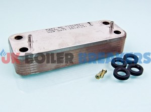 baxi 720790001 heat exchanger dhw 14 plate 1