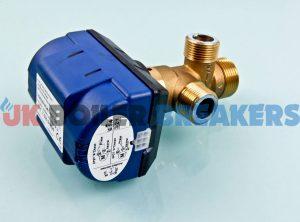 heatrae sadia 95605116 diverting valve actuator w/ 3 port diverting valve 95605115 1